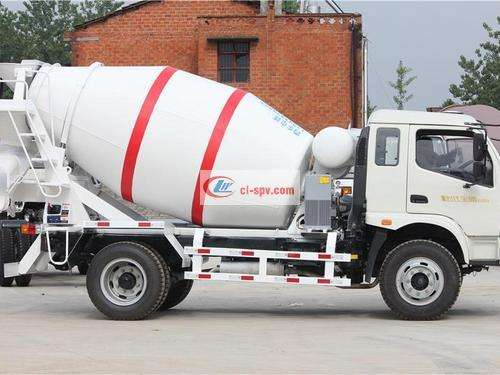 Times Zhongchi 4 party cement mixer truck picture