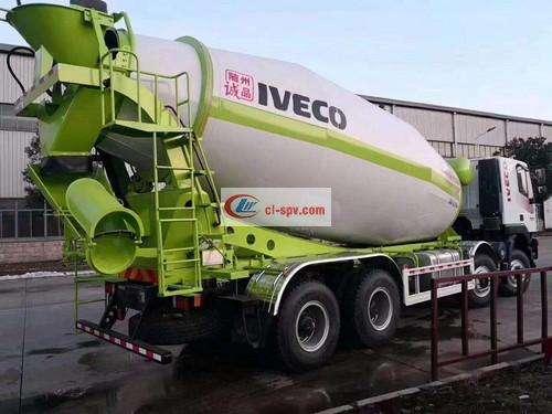 Hongyan Jieshi 18 square cement mixer truck picture