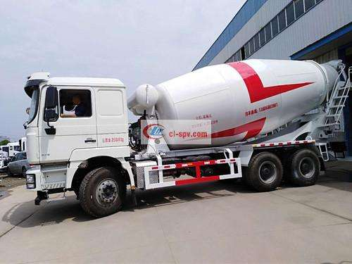 Shaanxi Automobile Delong 12 square cement mixer truck picture