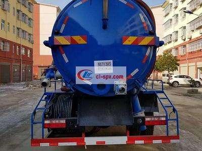 12 tons Dongfeng D9 vacuum sewage truck