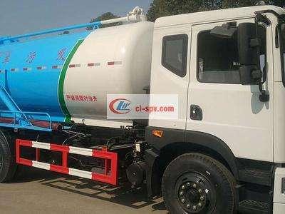 东风新款12吨吸污车图片