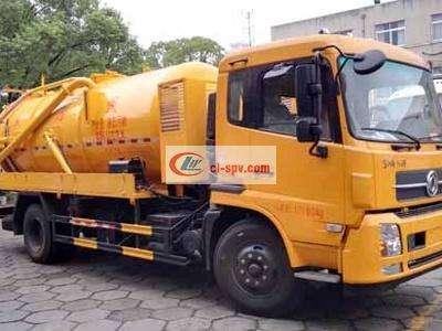Dongfeng Tianjin  4×2  12 tons sewage suction truck