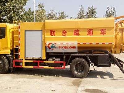 东风天锦15吨下水道疏通清洗车图片