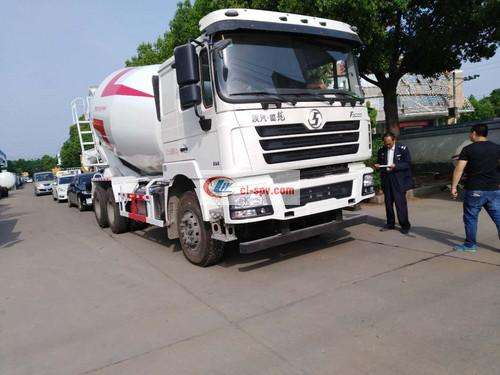 Shaanxi Automobile Delong 16 square cement mixer truck picture