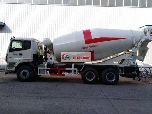 Foton Auman 16 square cement mixer truck picture