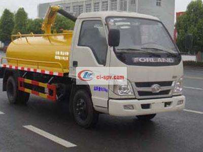Foton 3 tons fecal suction truck