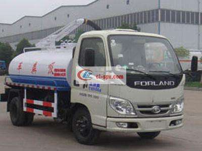 Foton 4 tons fecal suction truck
