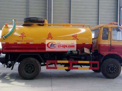 Dongfeng 15 tons high pressure cleaning fecal suction truck