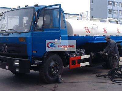 Dongfeng 8 tons high-pressure cleaning and suction dual-purpose truck