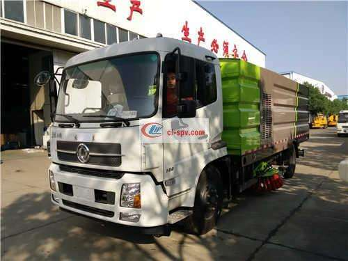 Tianjin 5000 Wheelbase 16 Tons Washing and Sweeping Truck Picture