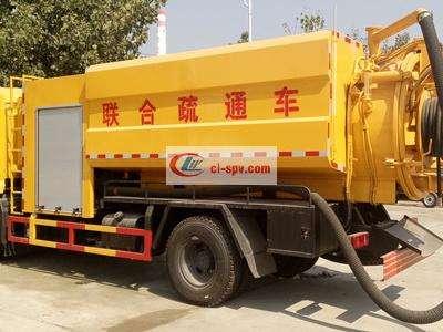 东风天锦10吨下水道疏通清洗车图片