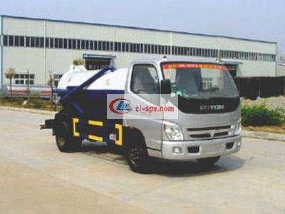 6 tons Foton vacuum sewage truck