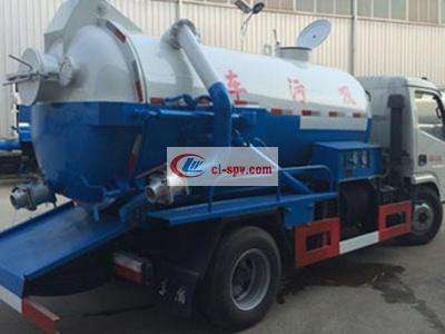 Dolica 5 tons dry and wet separation sewage suction truck