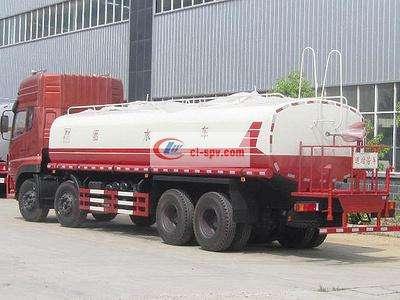 国五东风天龙前四后八25吨洒水车图片