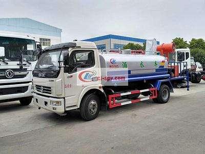 国五东风多利卡8吨洒水车图片