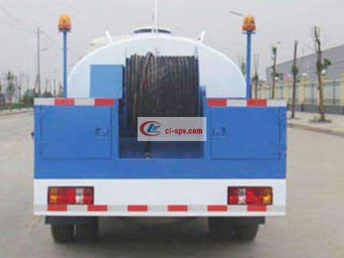 Foton 5 tons high pressure cleaning truck pictures