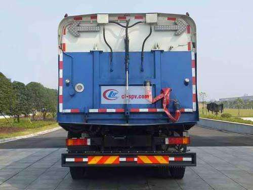 Picture of Dongfeng Tianlonghou eight-wheel 22 square large-scale washing and sweeping truck