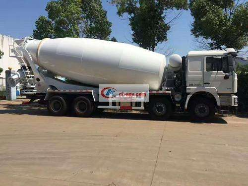 Shaanxi Automobile Delong 18 square cement mixer truck picture