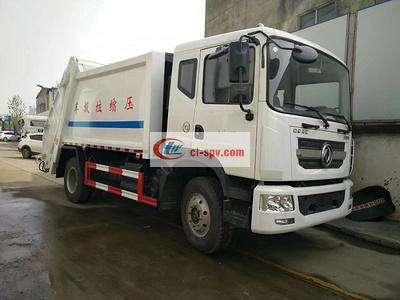 东风12吨压缩垃圾车图片