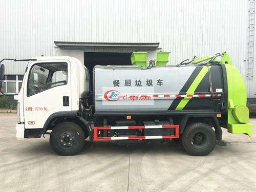 Dongfeng 8 party kitchen garbage truck pictures