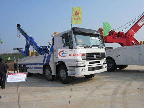 Howo the first four and eight countries IV heavy tow truck combined wrecker pictures