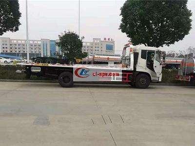 5吨东风天锦平板清障车图片