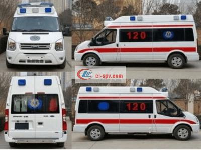 福特救V348长轴高顶监护型救护车图片