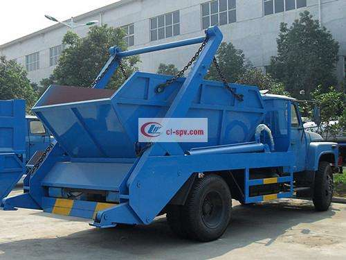 Picture of Dongfeng 140 6 square tip swing arm garbage truck