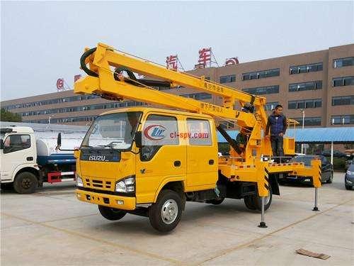 Isuzu 16m Aerial Operating Truck Picture