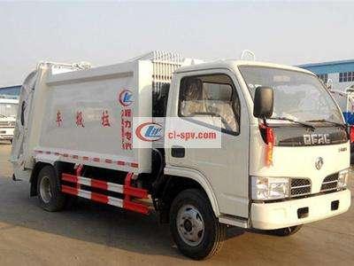 东风多利卡5吨压缩式垃圾车图片