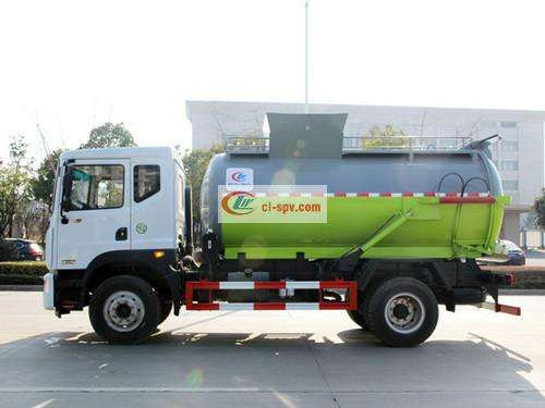 Dongfeng D9 12 party kitchen garbage truck pictures