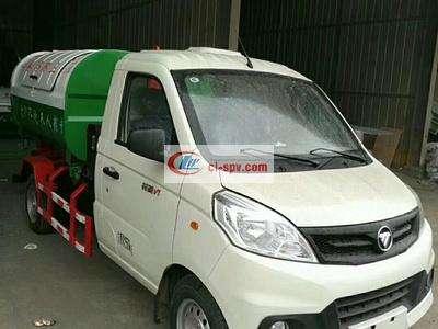 国六福田3方钩臂垃圾车_福田3方车厢可卸式垃圾车图片