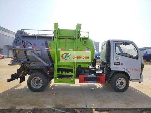Dongfeng 5 party kitchen garbage truck pictures
