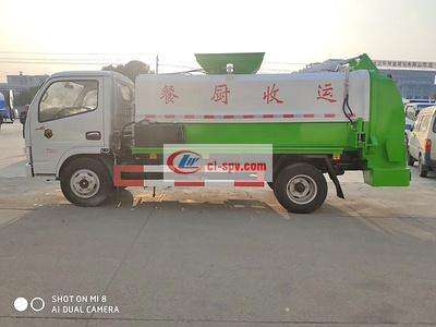 东风5方餐厨垃圾车图片
