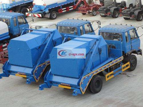 Dongfeng 153 12 square swing arm garbage truck pictures