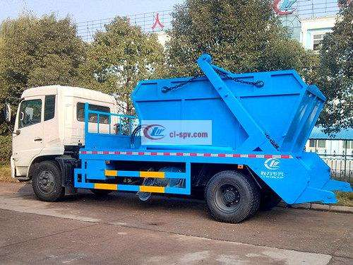 Dongfeng Xiaotianjin 8-Side Swing Arm Garbage Truck Picture