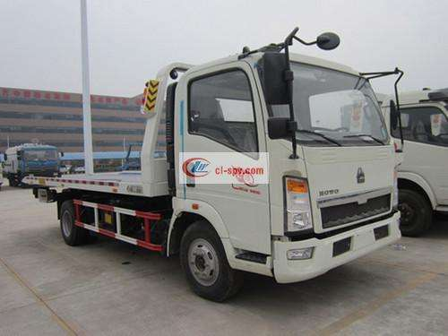 Howo HOWO Flatbed One Tow Two Wrecker Truck Picture