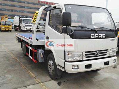 small 东风平板 one tow two wrecker 图片