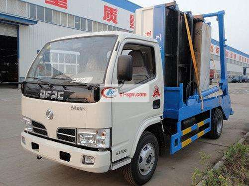 Dongfeng Small Dolica 4 Side Swing Arm Garbage Truck Picture