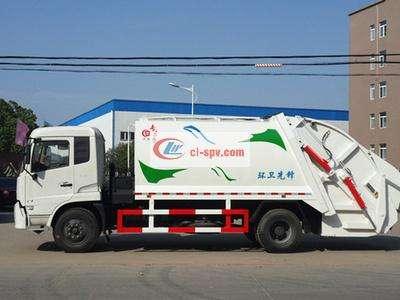 东风天锦14方压缩式垃圾车图片