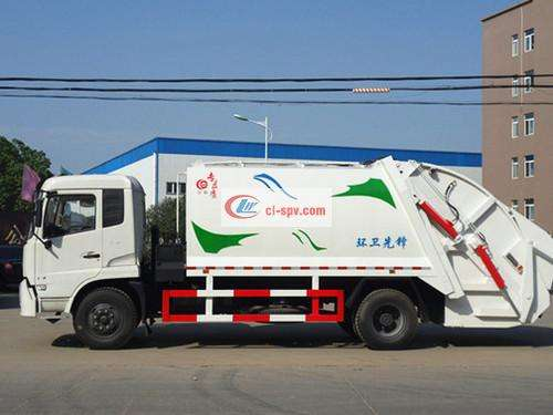 Dongfeng Tianjin 14 square compression garbage truck pictures
