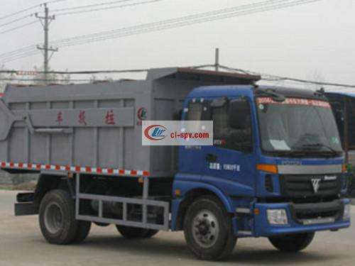 Foton 10-party docking garbage truck pictures