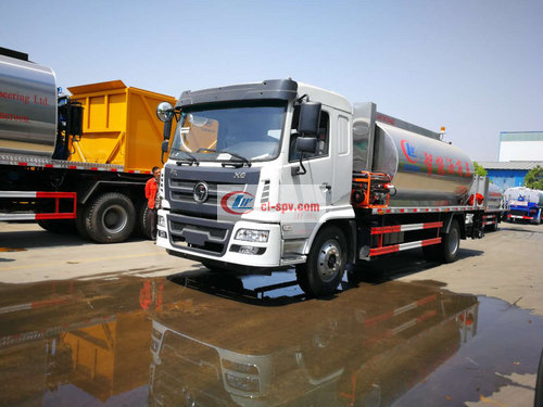 Road maintenance truck National Fifth Shaanxi Automobile Xuande 12 square asphalt spreader picture