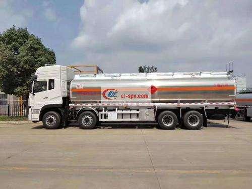Dongfeng Tianlong Aluminum Alloy 28-30 Square Fuel Tanker Picture
