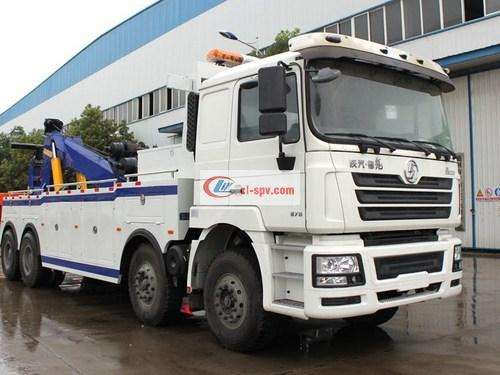Shaanxi Automobile Delong Front Four Rear Eight Heavy Duty Crane Combined Wrecker Truck Picture