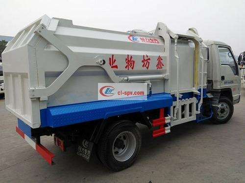 Foton small truck 5-square side-mounted compression docking garbage truck picture