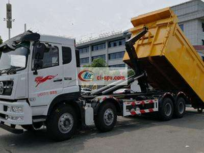 重汽30吨勾臂式垃圾车图片