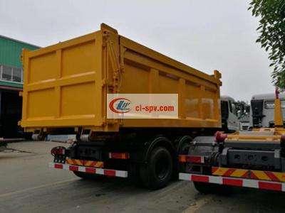 东风商用车30吨勾臂式垃圾车图片