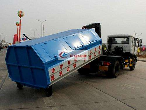 Dongfeng 145 10 square hook arm garbage truck pictures