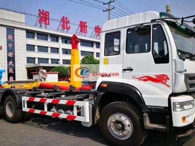 重汽25-28吨勾臂式垃圾车图片